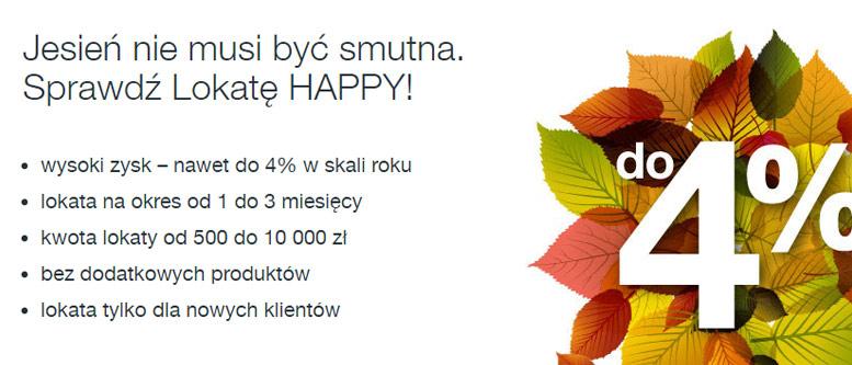 Lokata Happy 4% – dobra propozycja od Idea Banku