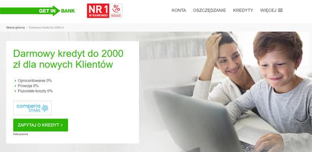 Kredyt Zero procent w Getin